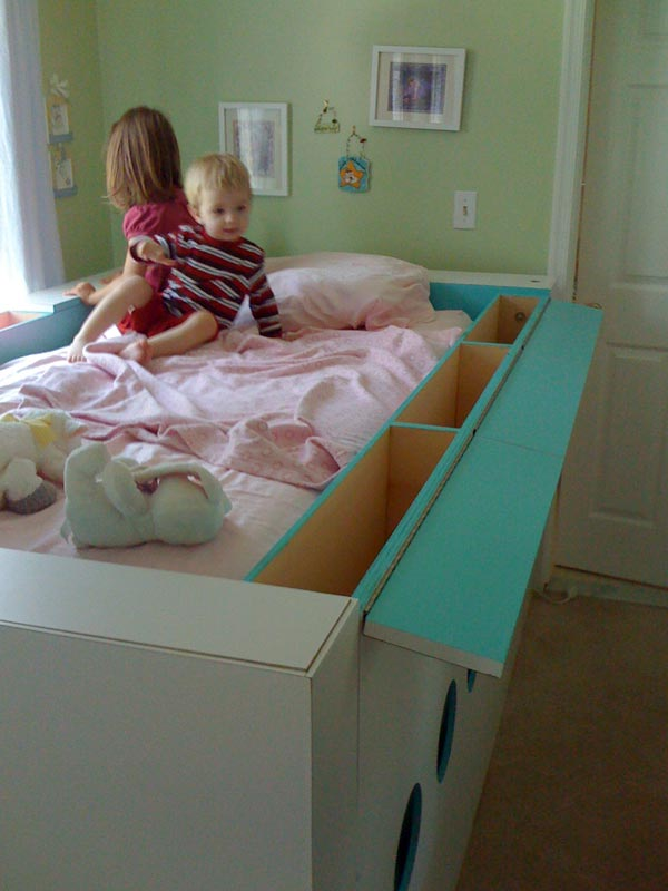 White And Red Works Custom Furniture Modern Trundle Bed
