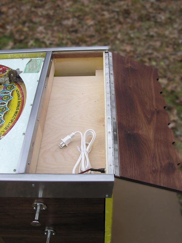 White And Red Works Custom Furniture Pinball Desk
